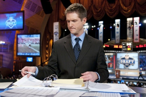 ESPN NFL Draft Analyst Todd McShay reviews his notes during a recent draft. (ESPN Images)