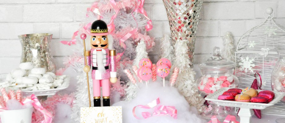 The Prettiest Pink Christmas Desserts Party Table