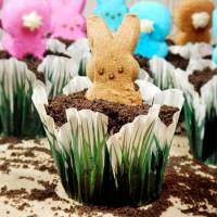 Peeping Peeps Bunny Cupcakes