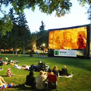 Fresh Air Cinema screen