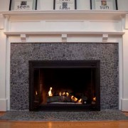 Pebble stone fireplace - C. Phaisalakani