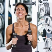 Adult Woman At The Gym