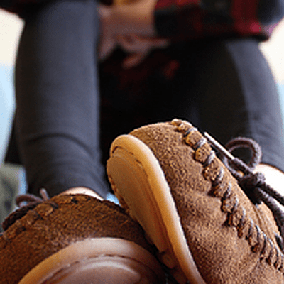Laurentian Chief Raised By Wolves Moccasins