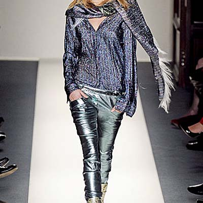 Balmain Runway FW 2011 Metallic Leather Pants