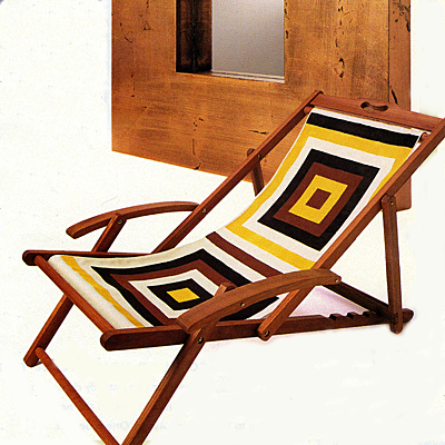 Painted slingback chair by Brendan Power - Clinton Hussey
