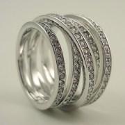 Swarovski Spiral Ring