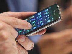 Someone using a Samsung Galaaxy smartphone