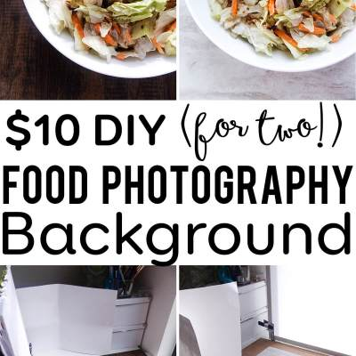 $10 DIY Food Photography Backgrounds