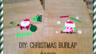Christmas Burlap Sacks