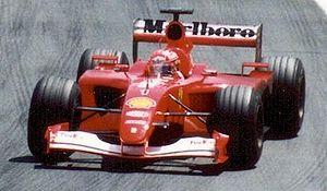 Michael Schumacher driving for Scuderia Ferrar...