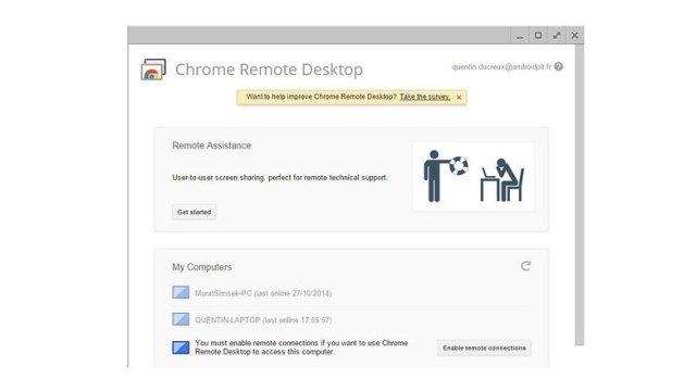 controle distance pc google remote desktop