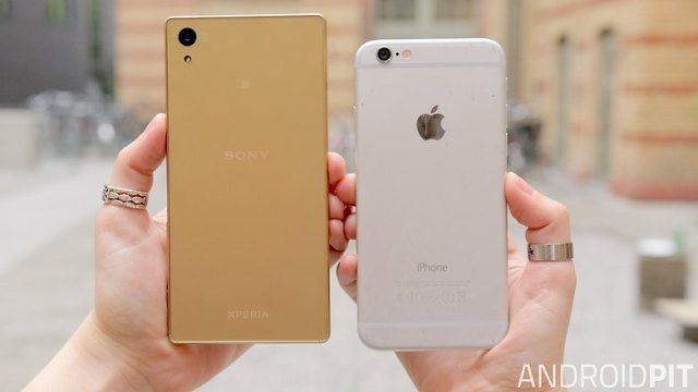 sony xperia z5 vs iphone 6 back