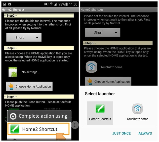 AndroidPIT customize home button home2 shortcut touchwiz galaxy s6 2