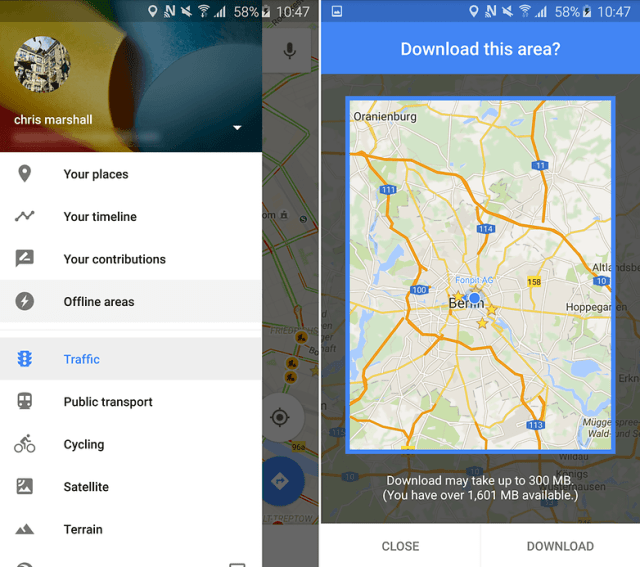 androidpit google maps update offline areas