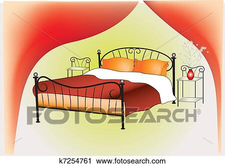 Clipart Bedroom Interior Design Fotosearch Search Clip Art Ilration Murals Drawings
