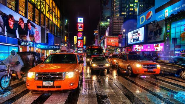 都会の車運転