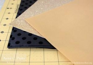 Gold and Black Scrapbook Paper