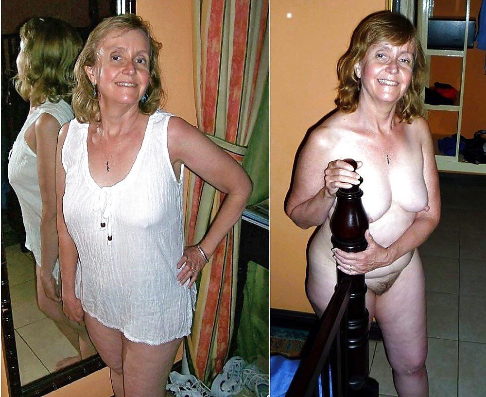 mother and grandmother dressed undressed
