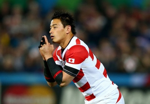 GLOUCESTER, ENGLAND - OCTOBER 11: Ayumu Goromaru of Japan prepares to kick during the 2015 Rugby World Cup Pool B match between USA and Japan at Kingsholm Stadium on October 11, 2015 in Gloucester, United Kingdom. (Photo by Clive Rose/Getty Images)