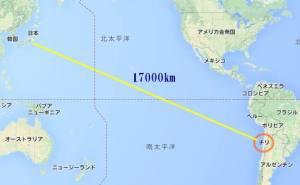 チリ場所と距離