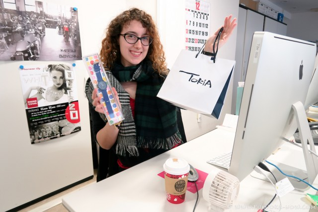 Our editor with her spoils!