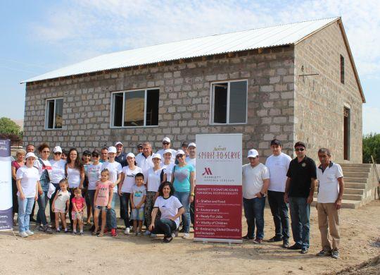 Armenian Marriott Hotel Yerevan staff help family of 11 complete home