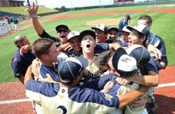 Lafayette celebrates after winning the 3A state championship beating Loudoun Valley 5-4 in Liberty University Saturday.