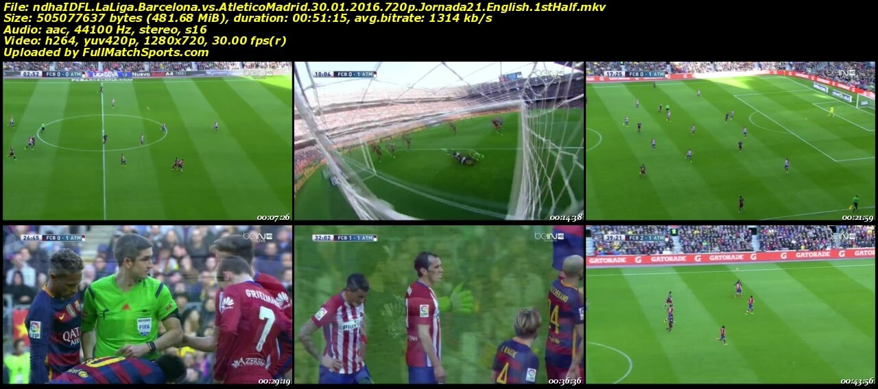barcelona vs atletico madrid full match