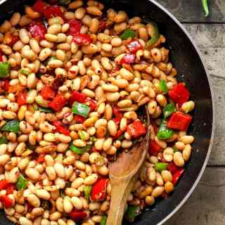 Kung Pao White Beans Skillet