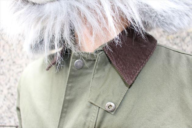 GUメンズハンティングジャケット襟アップ