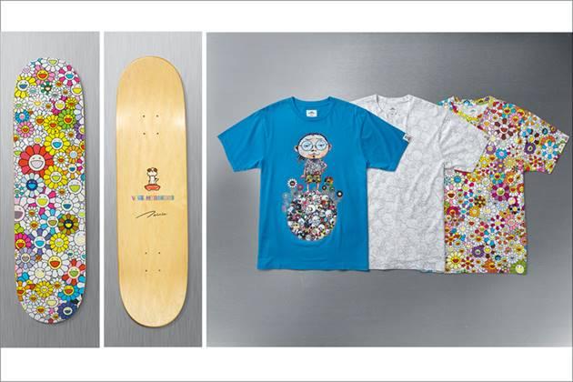 VANS×村上隆コラボコレクションプリントTシャツ&スケートボード
