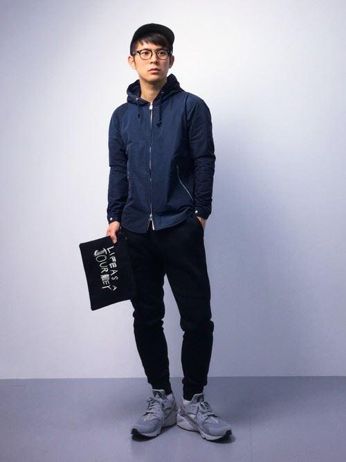 スポーツミックスのメンズ秋冬コーディネート上級編1