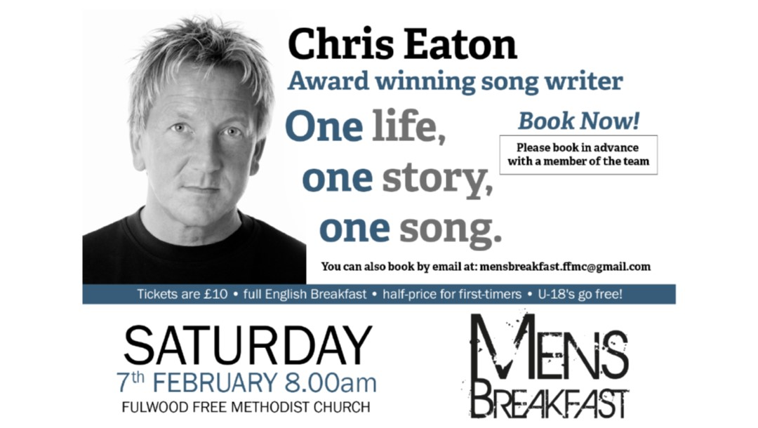 Men's Breakfast: One Life, One Story, One Song with Chris Eaton