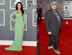 Sophisticated Grammy Katy Perry Jack Black Green Is In1 Starbucks Dress Code Hair Starbucks Dress Code Change