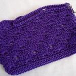 Purple Rippled Shells Clutch w/ strap $15.00