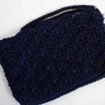 Navy Blue Nestled Shells Clutch w/ strap $15.00