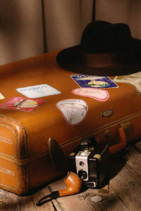 Picture of a suitcase a traveling fundraiser probably wouldn't take