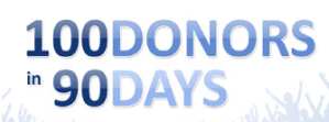 100 Donors in 90 Days