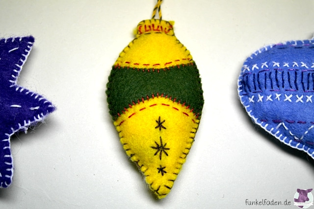 Anhänger für Weihnachten aus Filz nähen / Filzanhänger