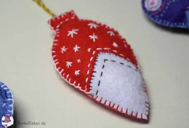 Weihnachtsanhänger aus Filz nähen / Filzanhänger
