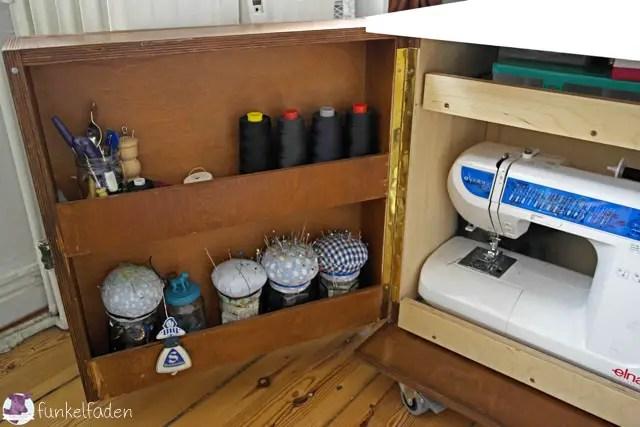gebaut diy mobil mit viel platz f r n hmaschinen do it yourself bauen mit holz diy. Black Bedroom Furniture Sets. Home Design Ideas