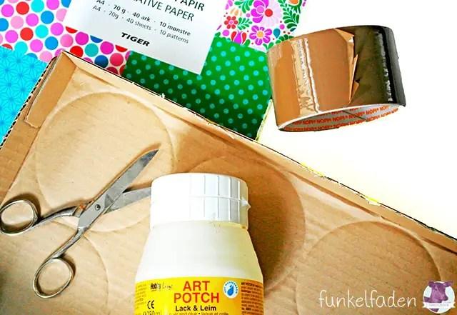 Anleitung - Bilderrahmen aus Pappe basteln