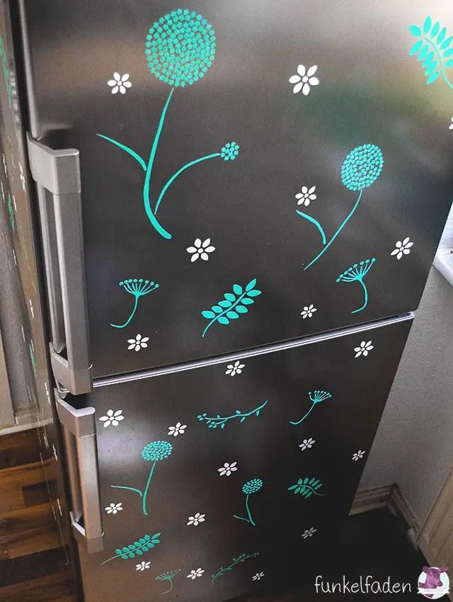 Kühlschrank bekleben mit Folien - Anleitung