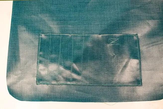 Umhängetasche nähen - aufgesetzte Tasche