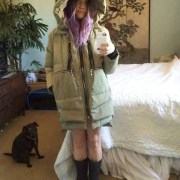 All parka-ed up and no where to freeze.