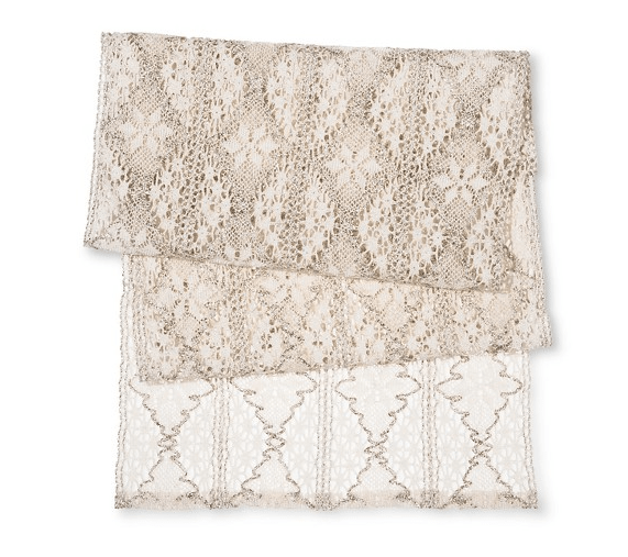 Metallic Lace Table Runner
