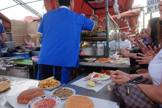 fried fish vendor marrakech