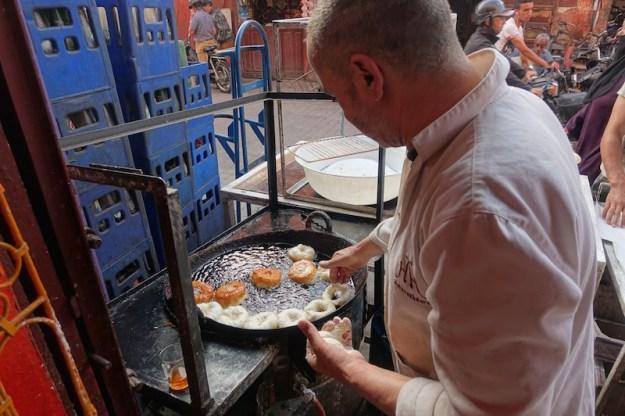 making sfinge savory donuts marrakech