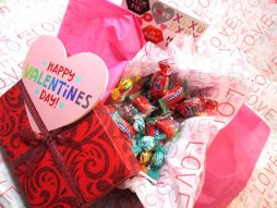 Valentine's Day Candy Box from Funky Delivery with Heart Note Card