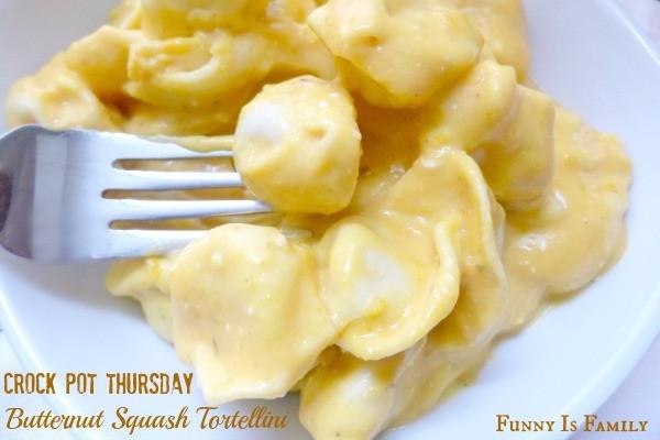 Crock Pot Butternut Squash Tortellini